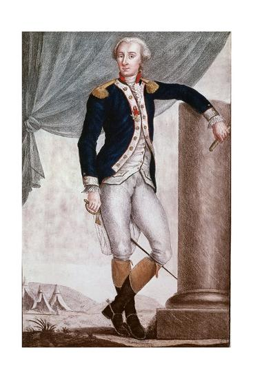 Portrait of Gilbert Du Motier, Marquis De Lafayette--Giclee Print