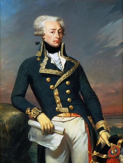 Portrait of Gilbert Motier the Marquis De La Fayette (1757-183), as a Lieutenant General, 1791-Joseph-D?sir? Court-Giclee Print
