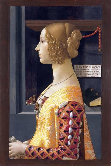 Portrait of Giovanna Tornabuoni by Domenico Ghirlandaio--Giclee Print
