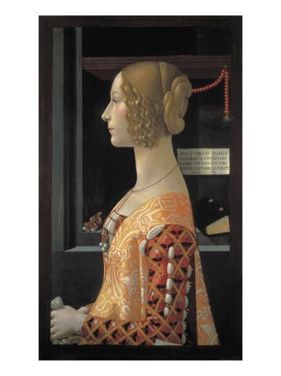 Portrait of Giovanna Tornabuoni-Domenico Ghirlandaio-Art Print