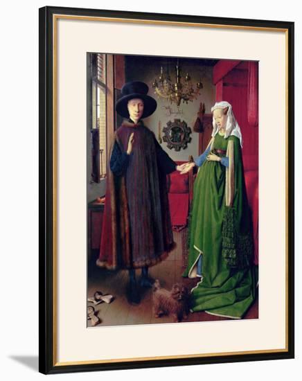 Portrait of Giovanni Arnolfini and his Wife, c.1434-Jan van Eyck-Framed Giclee Print