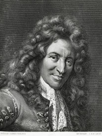 Portrait of Giovanni Battista Lulli or Jean-Baptiste Lully--Giclee Print