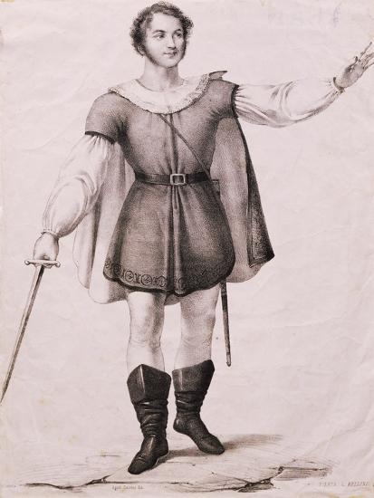 Portrait of Giovanni Battista Rubini--Giclee Print