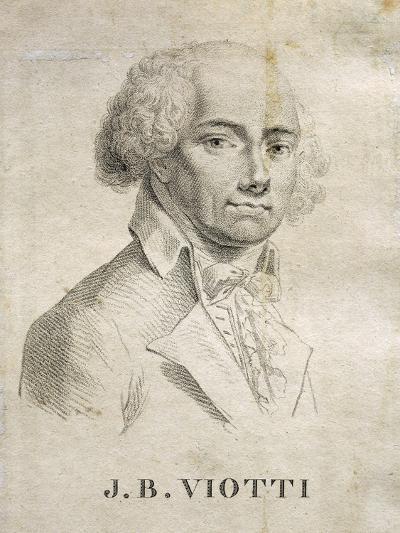 Portrait of Giovanni Battista Viotti--Giclee Print