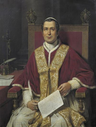 Portrait of Giovanni Maria Mastai Ferretti, Pope Pius IX from 1846 to 1878--Giclee Print