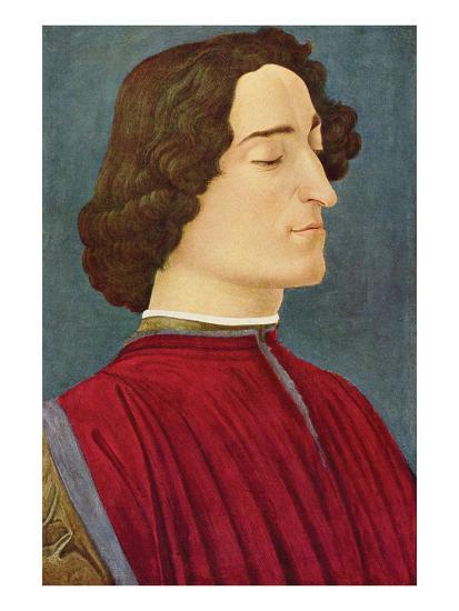 Portrait of Giuliano De Medici-Sandro Botticelli-Art Print