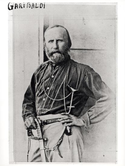 Portrait of Giuseppe Garibaldi (1807-82) 1860-Gustave Le Gray-Photographic Print