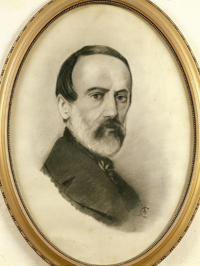 Portrait of Giuseppe Mazzini, 1805 - 1872--Giclee Print