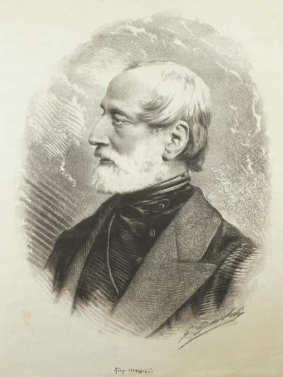 Portrait of Giuseppe Mazzini--Giclee Print