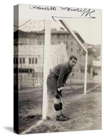 Portrait of Giuseppe Traverso, Goalie on the Genova Soccer Team