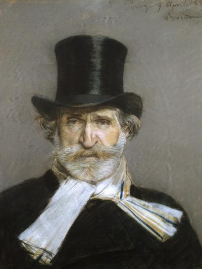 Portrait of Giuseppe Verdi, 1880s-Giovanni Boldini-Giclee Print
