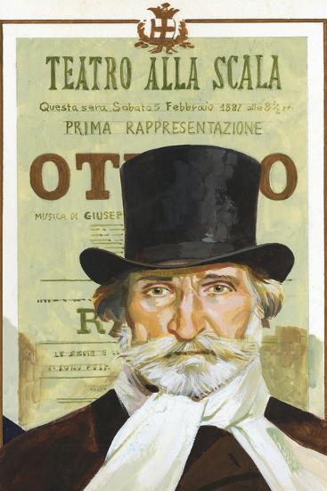 Portrait of Giuseppe Verdi (Roncole Verdi, Busseto 1813-Milan, 1901), Italian Composer--Giclee Print