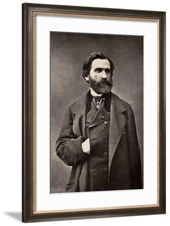 Portrait of Giuseppe Verdi--Framed Photographic Print