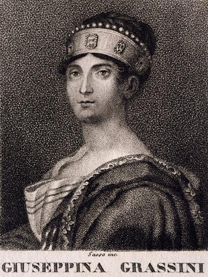 Portrait of Giuseppina Grassini--Giclee Print