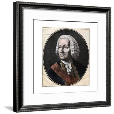 Portrait of Governor General of the French Establishment in India--Framed Giclee Print