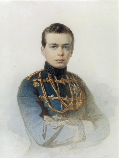 Portrait of Grand Duke Alexander Alexandrovich, Later Tsar Alexander III, 1861-Andrei Franzovich Belloli-Giclee Print