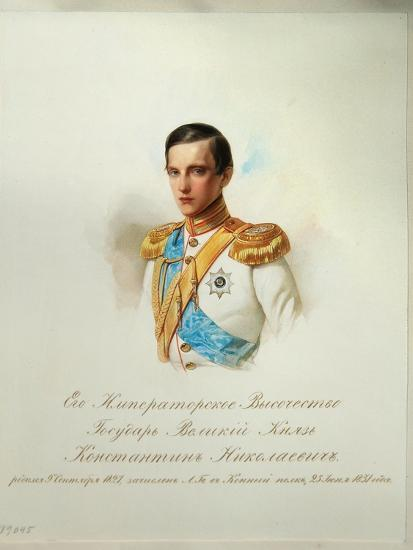 Portrait of Grand Duke Konstantin Nikolaevich of Russia, 1846-1849--Giclee Print