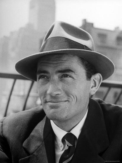 Portrait of Gregory Peck, Wearing a Hat-Nina Leen-Premium Photographic Print