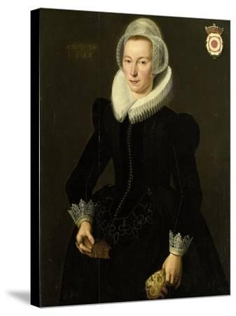 Portrait of Grietje Adriaensdr Grootes-Jacques Waben-Stretched Canvas Print