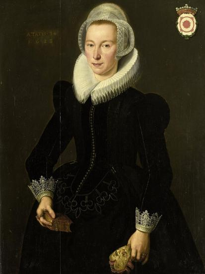 Portrait of Grietje Adriaensdr Grootes-Jacques Waben-Art Print