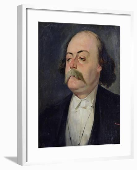 Portrait of Gustave Flaubert (1821-80) 1868-81-Eugene Giraud-Framed Giclee Print