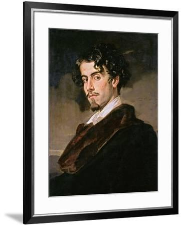 Portrait of Gustavo Adolfo Becquer, 1862-Valeriano Becquer-Framed Giclee Print