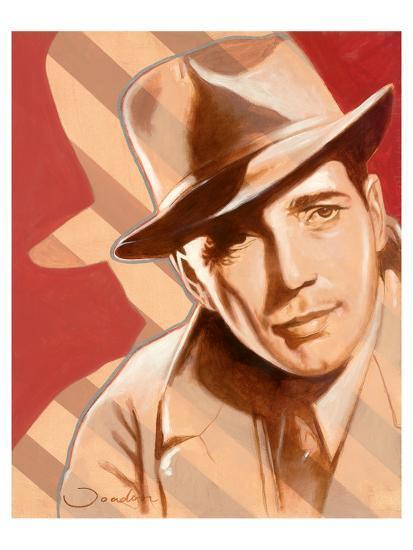 Portrait of H. Bogart-Joadoor-Art Print