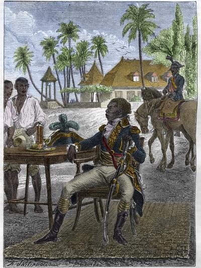 Portrait of Haitian Patriot Toussaint Louverture-Stefano Bianchetti-Giclee Print
