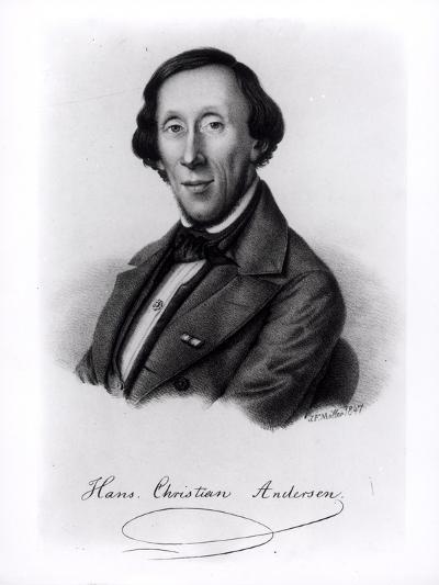 Portrait of Hans Christian Andersen-Johan Frederick Moller-Giclee Print