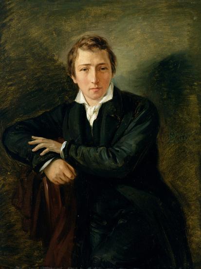 Portrait of Heinrich Heine 1831-Moritz Daniel Oppenheim-Giclee Print