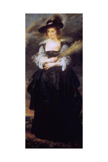 Portrait of Helena Fourment, C1630-32-Peter Paul Rubens-Giclee Print
