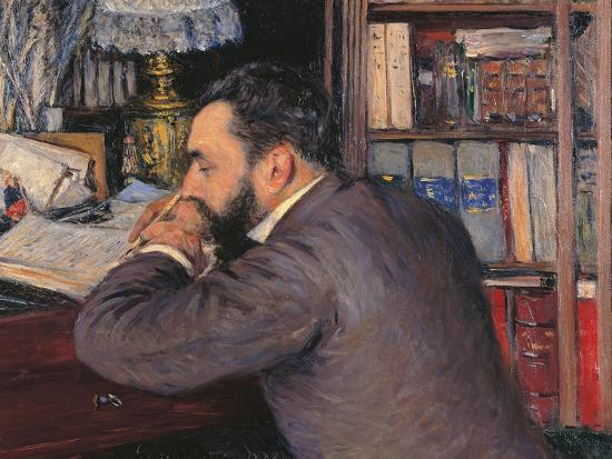Portrait of Henri Cordier-Gustave Caillebotte-Giclee Print