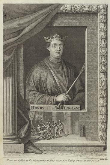 Portrait of Henry II of England--Giclee Print