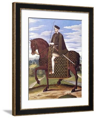 Portrait of Henry II of France--Framed Giclee Print
