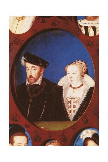 Portrait of Henry II of France--Giclee Print