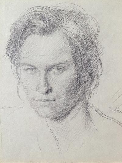 Portrait of Henry Lamb (1885-1960) C.1908-Augustus Edwin John-Giclee Print