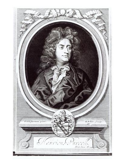 Portrait of Henry Purcell (1659-95), English Composer, Engraved by R. White, 1695 (Engraving)-Johann Closterman-Giclee Print