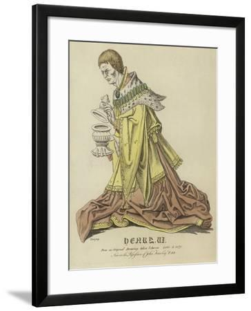 Portrait of Henry VI of England--Framed Giclee Print