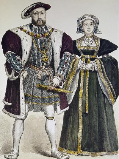 Portrait of Henry VIII of England--Giclee Print