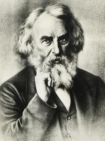 Portrait of Henry Wadsworth Longfellow--Giclee Print