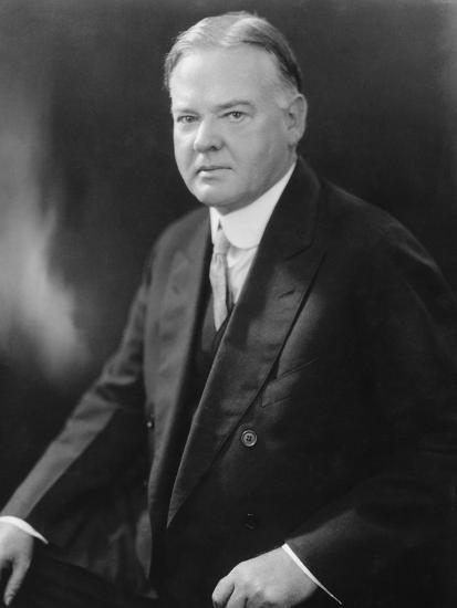 Portrait of Herbert Hoover--Photographic Print