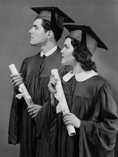 Portrait of High School Graduates-George Marks-Photographic Print