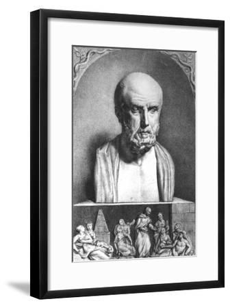 Portrait of Hippocrates, 1st Half 19th Century- Langlume-Framed Giclee Print