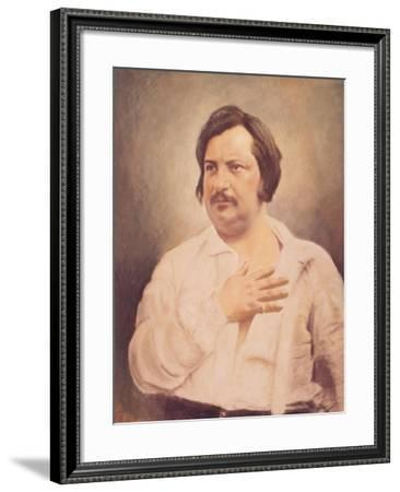 Portrait of Honore De Balzac (1799-1850) after a Daguerreotype--Framed Giclee Print