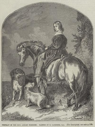 Portrait of Honourable Ashley Ponsonby-Edwin Landseer-Giclee Print