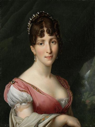 Portrait of Hortense de Beauharnais, Queen of Holland,1805-9-Anne-Louis Girodet de Roussy-Trioson-Giclee Print