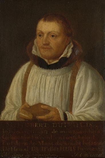 Portrait of Huybert Duyfhuys, Minister of St Jacobskerk in Utrecht-Hendrick Martensz Sorgh-Art Print