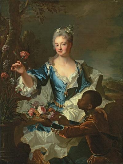 Portrait of Hyacinthe-Sophie De Beschanel-Nointel, Marquise De Louville-Hyacinthe Rigaud-Giclee Print