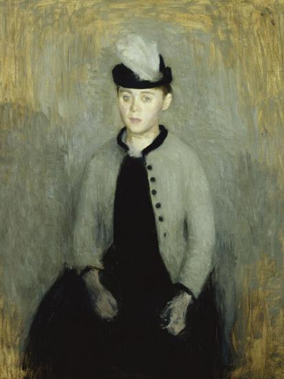Portrait of Ida Ilsted, Aged Twenty-One, Seated Three-Quarter Length-Vilhelm Hammershoi-Giclee Print