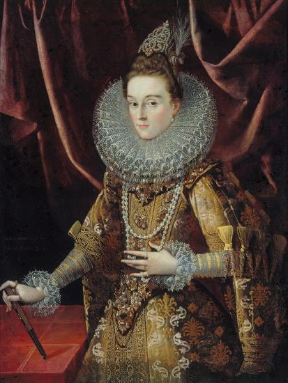 Portrait of Infanta Isabella Clara Eugenia of Spain-Juan Pantoja De La Cruz-Giclee Print